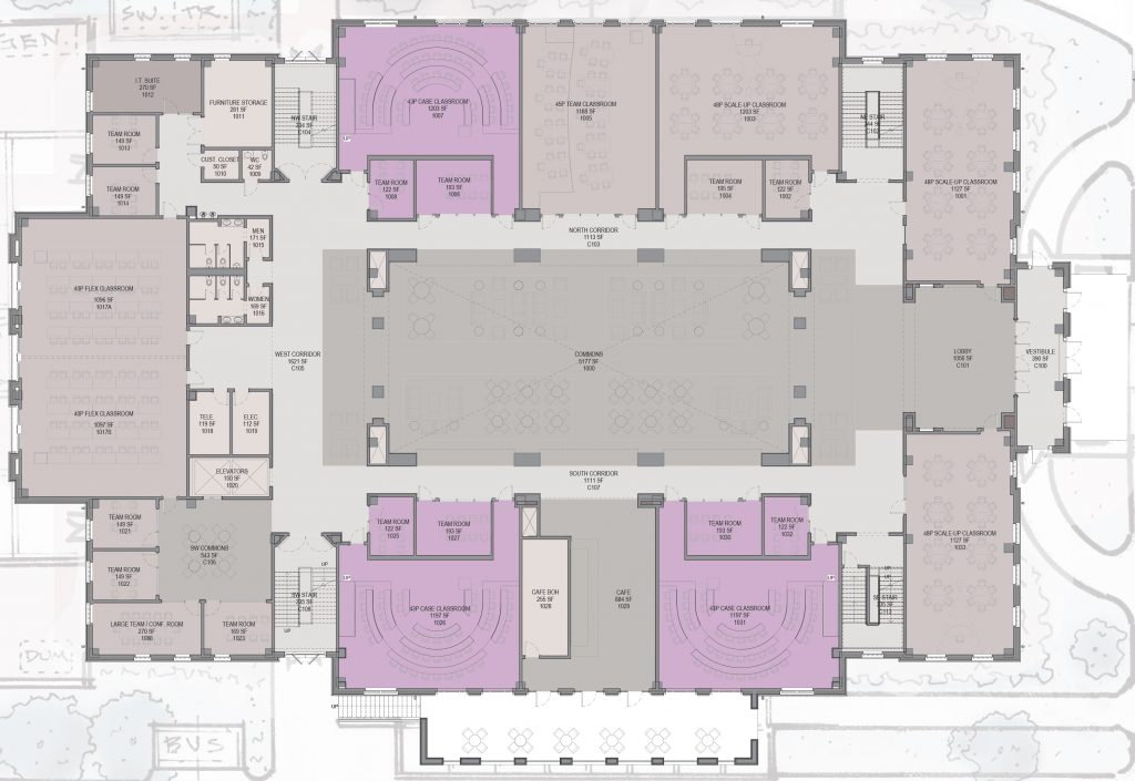 Hewson Hall first floor floorplan