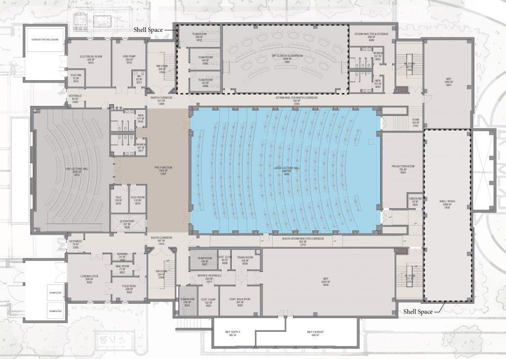 Hewson Hall ground floor floorplan